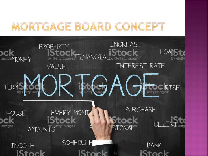 Mortgage Board Concept