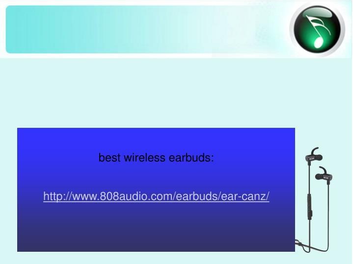 best wireless earbuds: