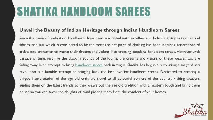 Shatika Handloom Sarees