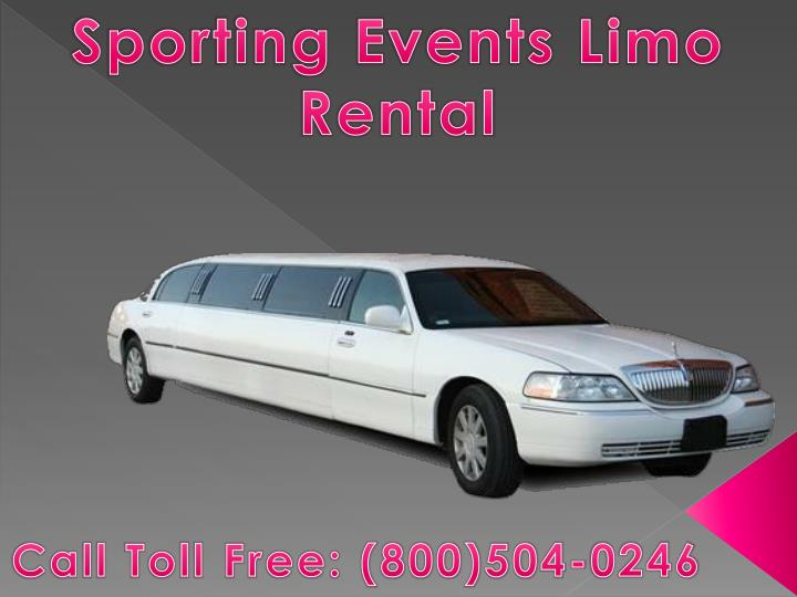 Sporting Events Limo Rental