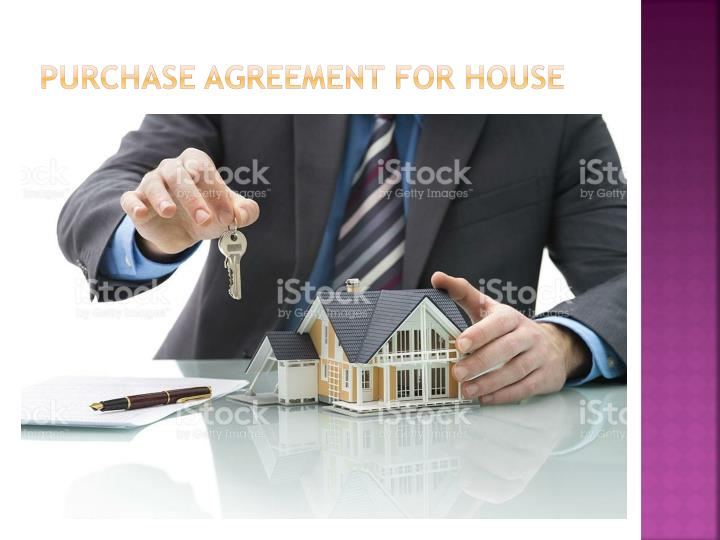 Purchase agreement for house