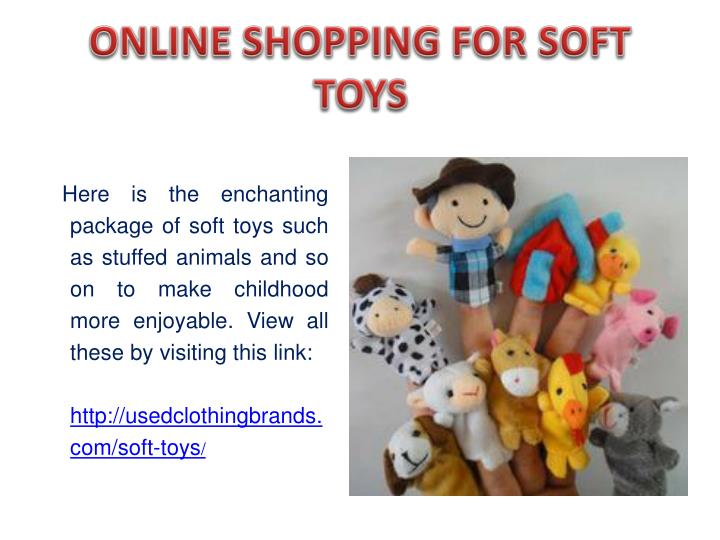Online shopping for soft toys