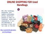 online shopping for used handbags
