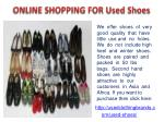 online shopping for used shoes