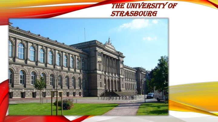 The University of Strasbourg