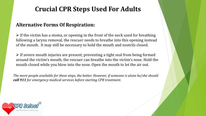 Crucial CPR Steps Used For