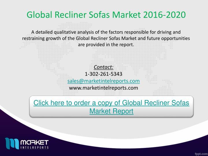 Global Recliner Sofas Market 2016-2020