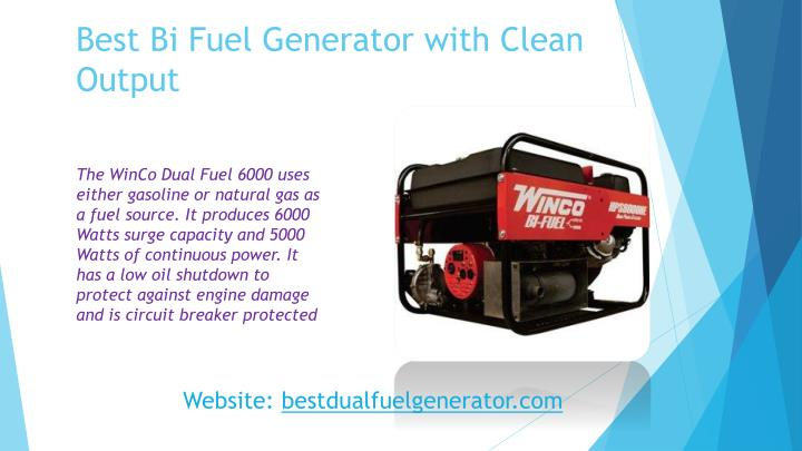 Best bi fuel generator with clean output