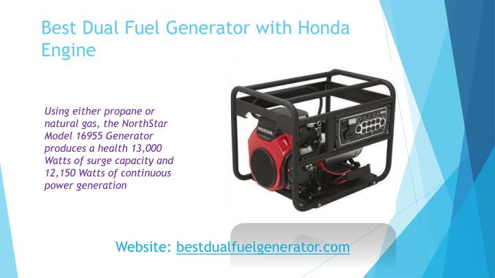Best Dual Fuel Generator with Honda Engine