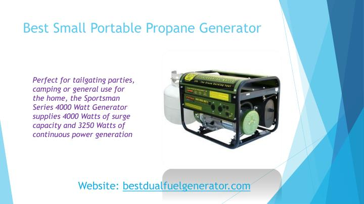 Best Small Portable Propane Generator