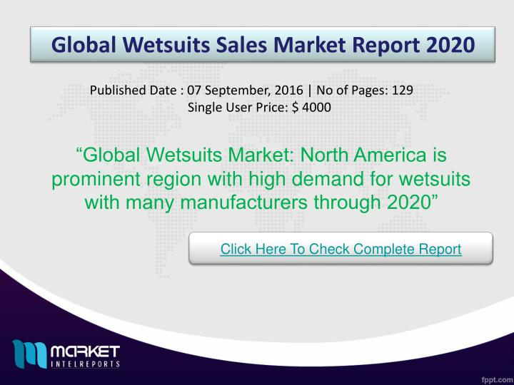 Global Wetsuits Sales Market Report 2020