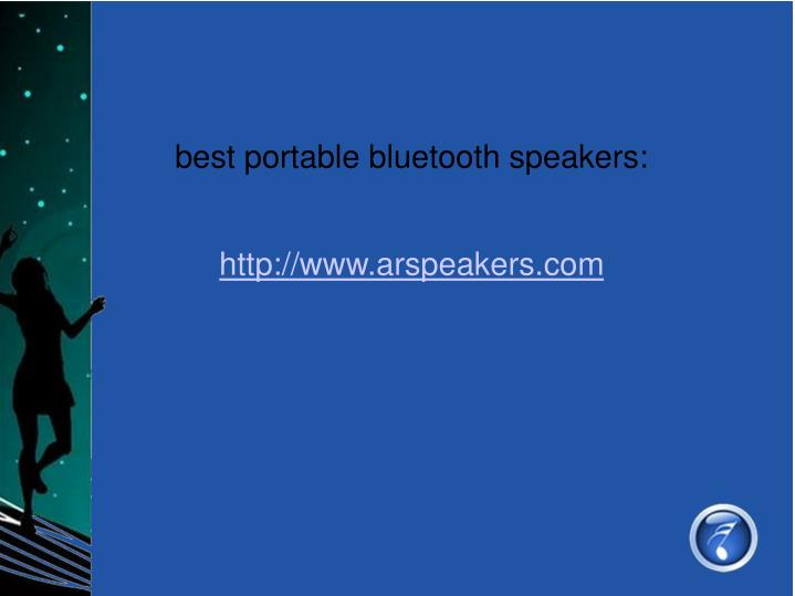 best portable bluetooth speakers: