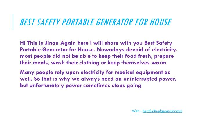 Best safety portable generator for house