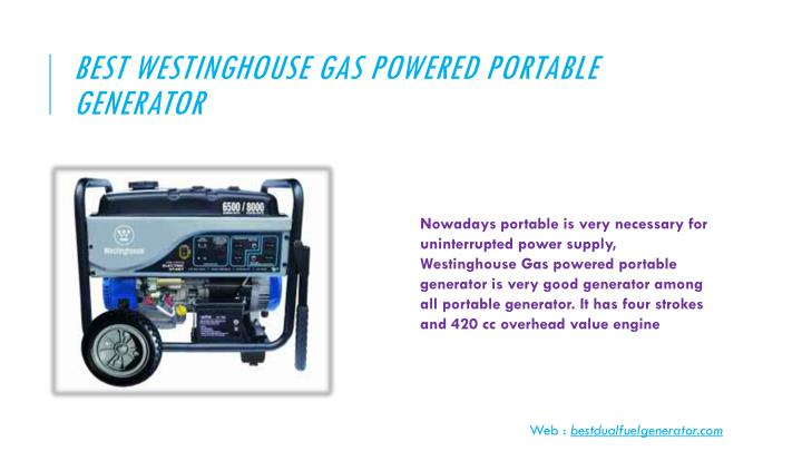 Best Westinghouse Gas Powered Portable Generator