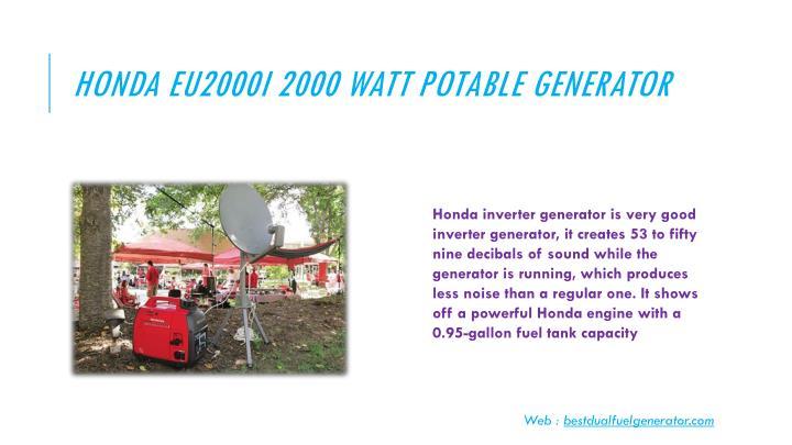 Honda EU2000I 2000 Watt Potable Generator