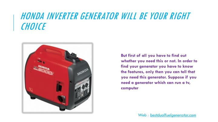 Honda inverter generator will be your right choice