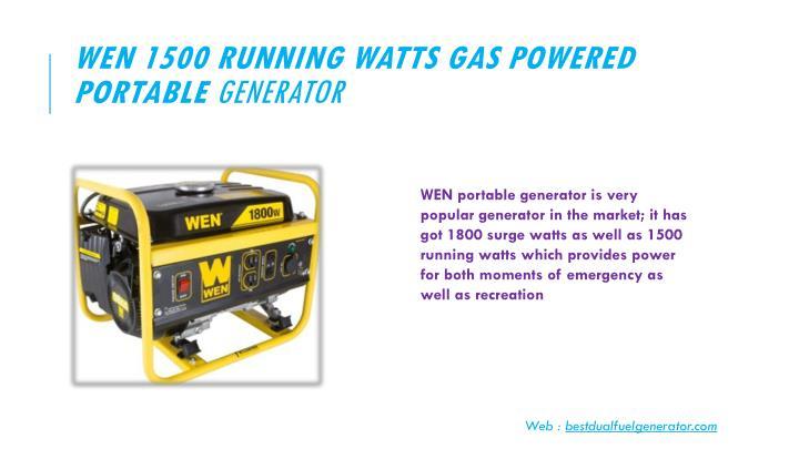 WEN 1500 Running Watts Gas Powered Portable