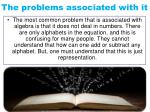 the problems associated with it