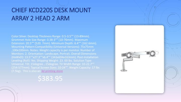 Chief KCD220S Desk Mount Array 2 Head 2 Arm