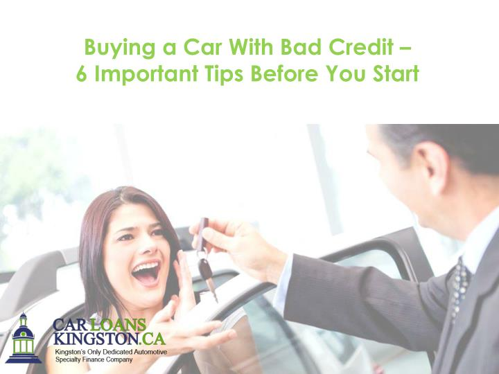 Buying a Car With Bad Credit –