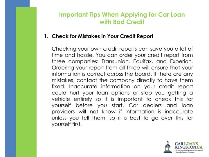 Important Tips When Applying for Car Loan