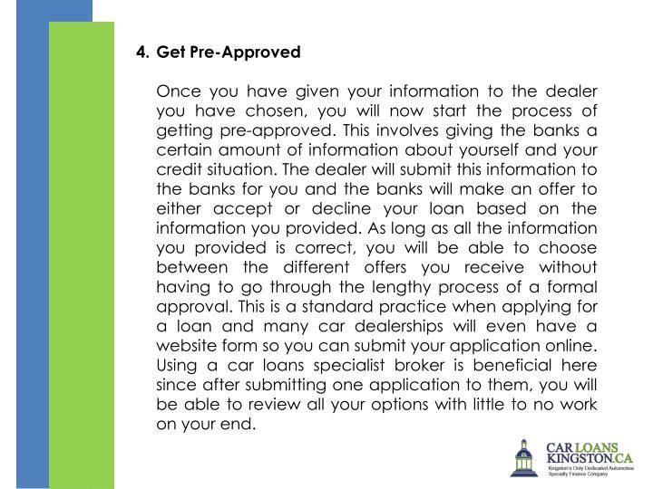 4.Get Pre-Approved