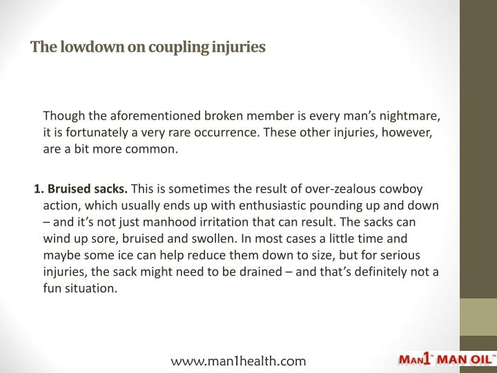 The lowdown on coupling injuries