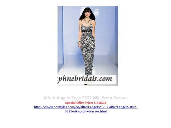 Alfred Angelo Style 3321 Niki Prom Dresses