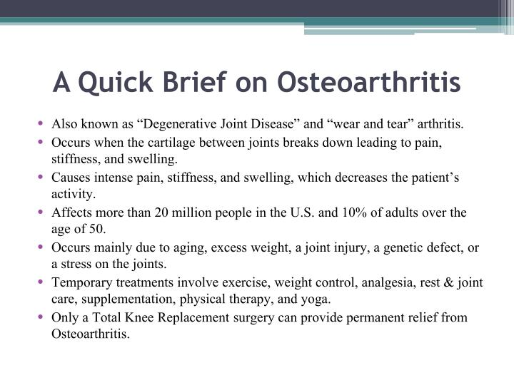 A Quick Brief on Osteoarthritis