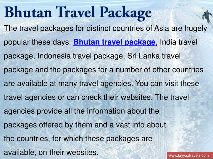 Bhutan Travel Package