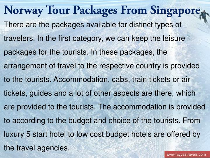 Norway Tour Packages From Singapore