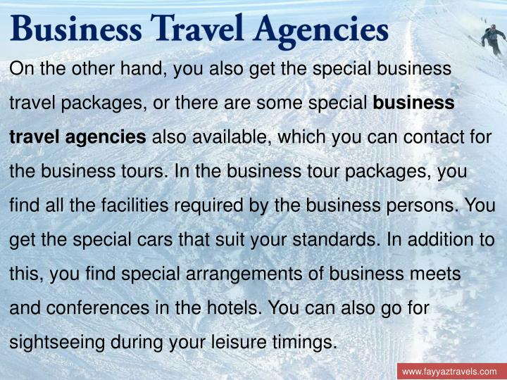 Business Travel Agencies