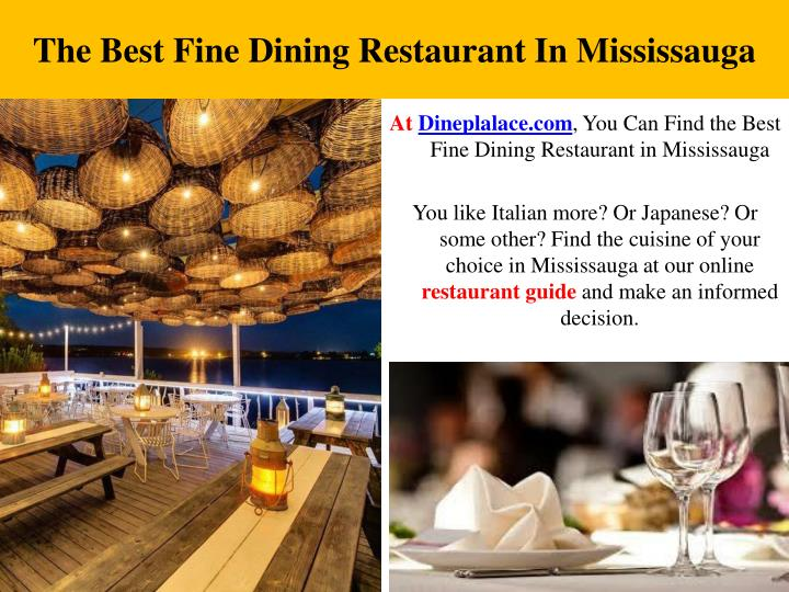 The Best Fine Dining Restaurant In Mississauga