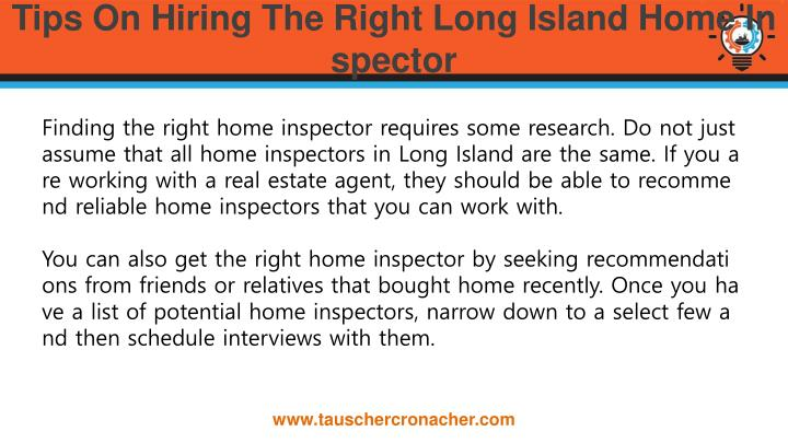 Tips On Hiring The Right Long Island Home Inspector