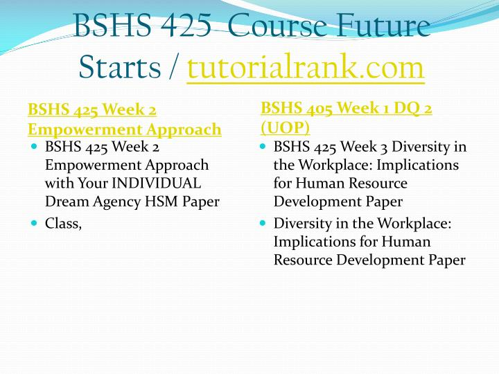 Bshs 425 course future starts tutorialrank com2