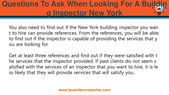 Questions To Ask When Looking For A Building Inspector New York