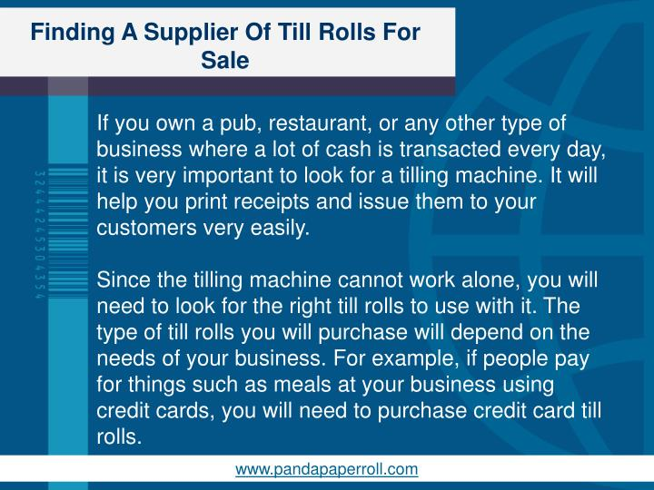 Finding a supplier of till rolls for sale1