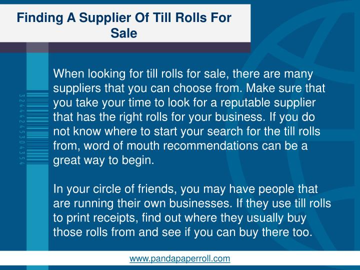 Finding a supplier of till rolls for sale2