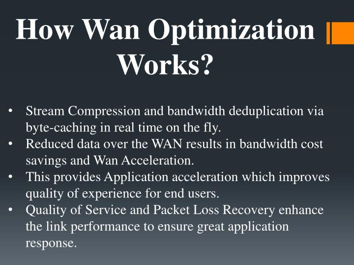 How Wan Optimization Works?