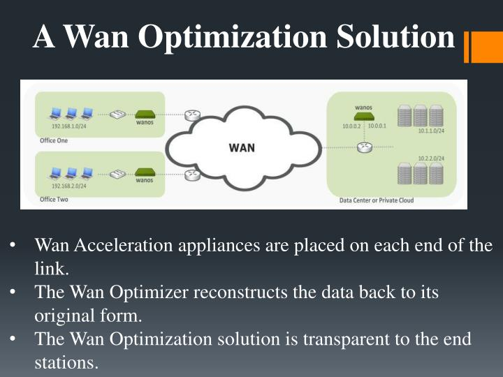 A Wan Optimization Solution