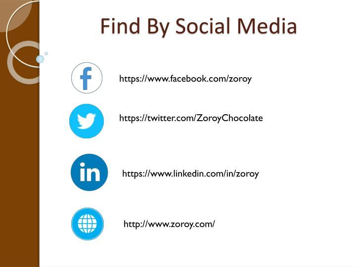 Find By Social Media