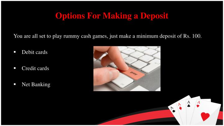 Options For Making a Deposit