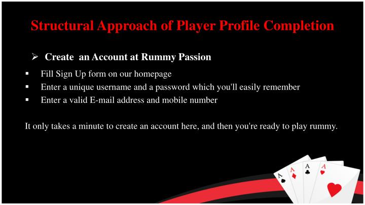 Structural Approach of Player Profile Completion