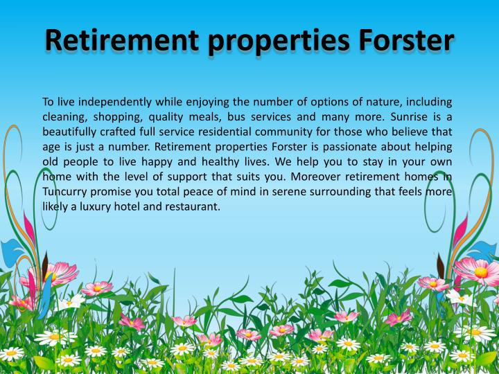 Retirement properties Forster