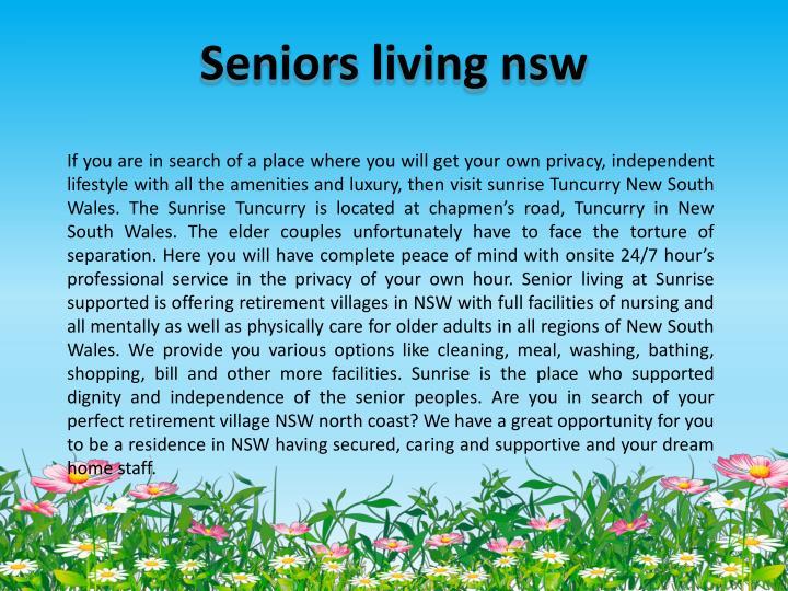 Seniors living