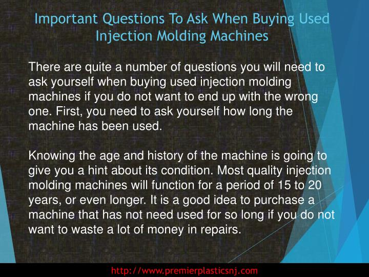Important questions to ask when buying used injection molding machines2