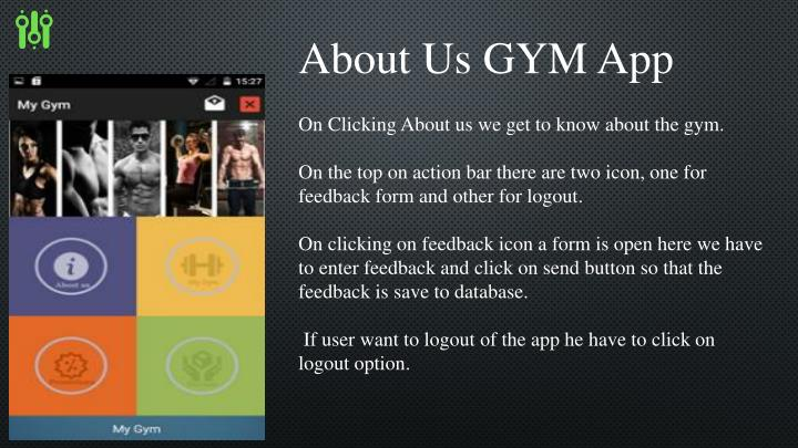 About Us GYM App