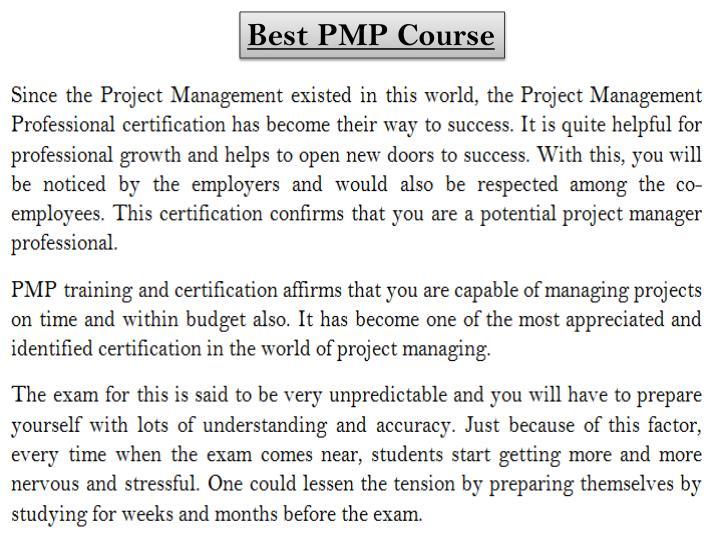 Best PMP Course