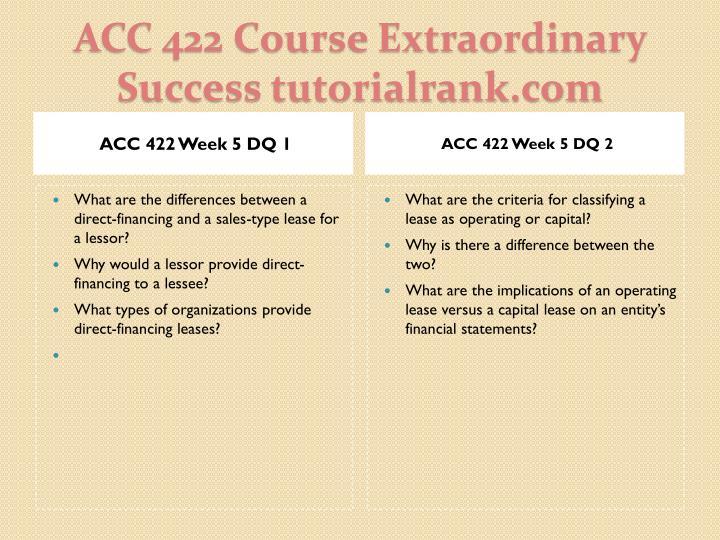 ACC 422 Week 5 DQ 1