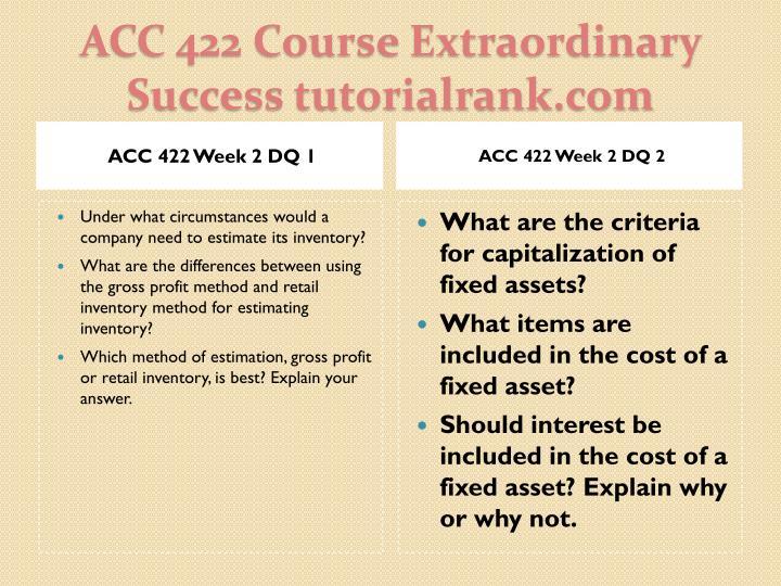 ACC 422 Week 2 DQ 1